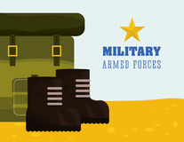 Military Armed Forces design Stock Photography