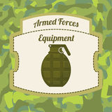 Military Armed Forces design Royalty Free Stock Images
