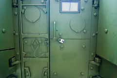Military armed vehicle door Stock Image