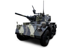Military Armored Tank. Shot of military tank. isolated on white background Royalty Free Stock Photo