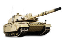 Military armored tank isolated on a white Stock Photos