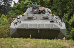 Military Armored Vehicle. Sitting on a ridge stock images