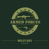 Military and armored vehicles logos and badges. Graphic template Stock Photo