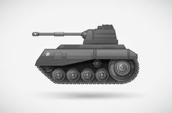 A military armoured tank. Illustration of a military armoured tank Stock Images