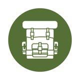 Military army badge bagpack icon image Royalty Free Stock Image