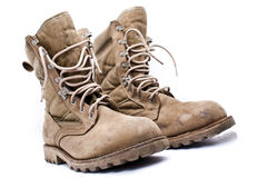 Military Army Boots Royalty Free Stock Photography