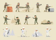 Military Army Collection Royalty Free Stock Image