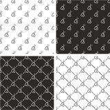 Military or Army or Commandos or Soldier Dog Tags Seamless Pattern Set Stock Photos