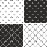 Military or Army or Commandos or Soldier Helmet Big & Small Seamless Pattern Set Stock Photography
