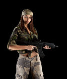 Military Army girl Stock Photos