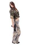 Military Army girl Stock Photos