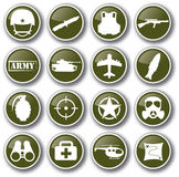 Military army icon set vector Stock Images