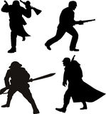Military army men silhouette Stock Photography