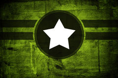 Military army star over grunge background. With copy space Stock Photo