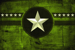 Military army star over grunge background Stock Image