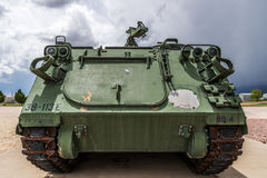 Military army track vehicle Stock Images