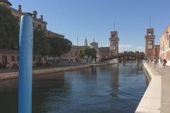 Military Arsenal Entry, July 21, 2017 Venice, Italy Royalty Free Stock Image