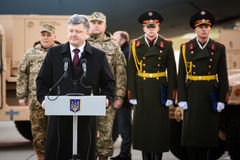 Military assistance to Ukraine. Royalty Free Stock Photos