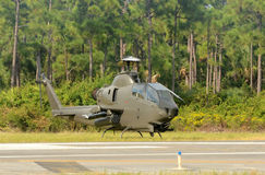 Military attack helicopter Stock Photo
