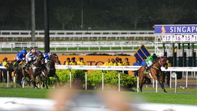 Military Attack leading the race at Singapore Airlines International Cup Stock Photo