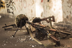 Military automatic guns Stock Photography