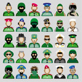 Military avatars Royalty Free Stock Image