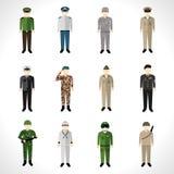 Military Avatars Set Stock Images