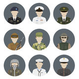 Military avatars Royalty Free Stock Photo