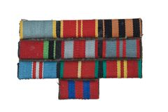 Military awards miniature for military uniform Stock Photo