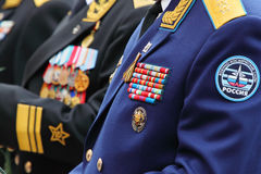 Military awards of veterans Stock Image