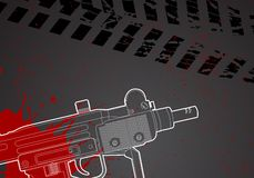 Military background. Military vector background with uze silhouette Royalty Free Stock Photos