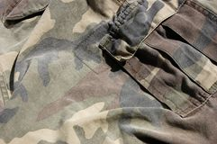 Military background. Close up camouflage, texture fabrics Royalty Free Stock Image