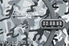 Military Background Coming Soon and countdown timer. Royalty Free Stock Photo