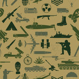 Military background. Seamless pattern. Military elements Royalty Free Stock Images