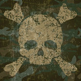 Military background with skull and crossbones Stock Image