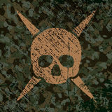Military background with skull. Vector Stock Images