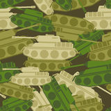 Military background from tanks. Army seamless  Royalty Free Stock Photo