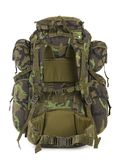 Military Backpack Isolated On White. Back. Stock Images