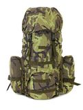 Military backpack isolated on white. Stock Photos