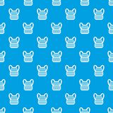 Military backpack pattern seamless blue Royalty Free Stock Photography