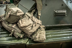 Military Bags Royalty Free Stock Photography