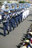 Military band. Perform in Taiwan at the national day, Oct. 10,2008 Royalty Free Stock Photos