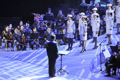 The military band and Choir-theFamous and classicconcert Stock Photos