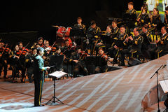 The military band command-theFamous and classicconcert Royalty Free Stock Photography