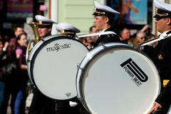 Military Band Drummers Royalty Free Stock Photos