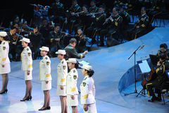 The military band and ensemble-theFamous and classicconcert Stock Photo