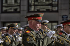 A military band at the parade Stock Photography