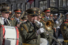 A military band at the parade Stock Image