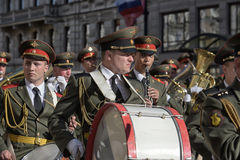 A military band at the parade Stock Images