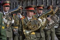 A military band at the parade Royalty Free Stock Image